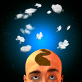 Arrow head mohawk with clouds Stock Photography