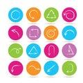 Arrow icons Royalty Free Stock Photo