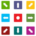 Arrow icons set Stock Images