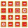 Arrow icons set red