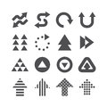 Arrow icons set vector black colour design. Royalty Free Stock Photo