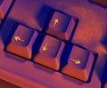 Arrow keys on keyboard Royalty Free Stock Photo