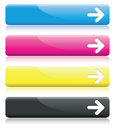 Arrow line banners a set of cmyk Royalty Free Stock Image