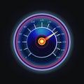 Arrow on measuing gauge or speedometer