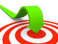 Arrow pointing on target Royalty Free Stock Photo