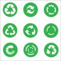 Arrow recycle icon set vector Royalty Free Stock Photo