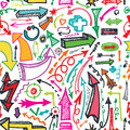 Arrow seamless pattern.Doodle vector Royalty Free Stock Photo