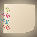 Arrow shape paper clip infographic Royalty Free Stock Photo