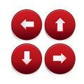 Arrow sign icon set Royalty Free Stock Photo