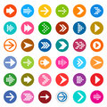 Arrow sign icon set. Royalty Free Stock Photo