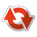 Arrow sign isolated icon