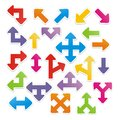Arrow stickers suitable for user interface Stock Photos