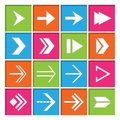 Arrow symbols icons set right forward next arrows for electronic devices flat isolated vector illustration Stock Images