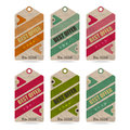 Arrow tags set of isolated paper price Stock Photography