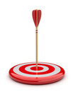 Arrow in target 3D. success hitting. Business Stock Image