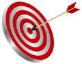 Arrow on Target Bullseye Illustration Royalty Free Stock Photo