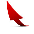 Arrow up a red move Stock Image