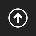 Arrow up vector icon. Forward arrow sign illustration