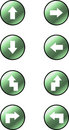Arrow vector buttons Royalty Free Stock Photos
