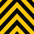 Arrow warning stripe Stock Image