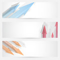 Arrow web banners set - headers collection Royalty Free Stock Images