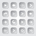 Arrow web buttons set collection Royalty Free Stock Image