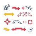 Arrow web icon vector illustration.