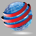 Arrow Wrap Globe Royalty Free Stock Photo