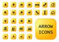 Arrow yellow buttons Stock Image