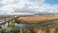Arrowhead marsh at san leandro bay oakland california Stock Photo