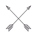 Arrows crossed frame icon