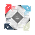 Arrows cycle infographics design element Royalty Free Stock Photo