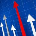 Arrows financial stat Royalty Free Stock Photo
