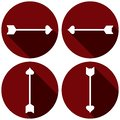 Arrows Flat Icon Set for Valentines Day
