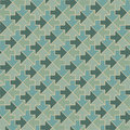 Arrows - geometric pattern in vintage green colors Stock Photos