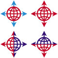 Arrows and Globe Royalty Free Stock Photography