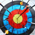 Arrows hit target. Stock Photography