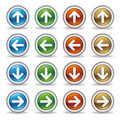 Arrows icon set Royalty Free Stock Photos