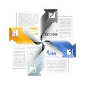 Arrows infographics design template illustration Royalty Free Stock Photo