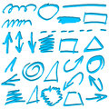 Arrows and lines hand drawn set vector illustration Royalty Free Stock Photos