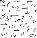 Arrows mega set vector illustration Royalty Free Stock Photos