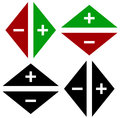 Arrows in opposite directions. Symbol of arrows in pairs with pl Royalty Free Stock Photo