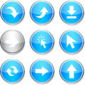 Arrows round icons. Stock Photography