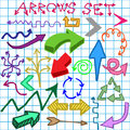 Arrows set Stock Photo