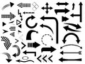 Arrows set of illustrated on white Royalty Free Stock Photo