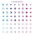 Arrows set undo and previous buttons vector Stock Image