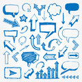 Arrows and speech bubbles set Royalty Free Stock Photography