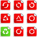 Arrows stickers. Royalty Free Stock Images