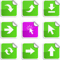 Arrows stickers. Royalty Free Stock Photo