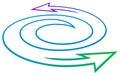 Arrows swirl Stock Image
